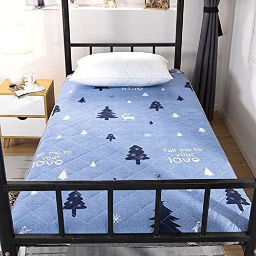 unhg Colchón De Dormitorio De Suelo De Tatami Plegable De Suelo Enrollable para Dormir,100cm×200cm