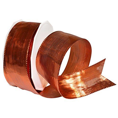 Morex Ribbon Devon Wired Polyester/Metallic Ribbon, 1-1/2
