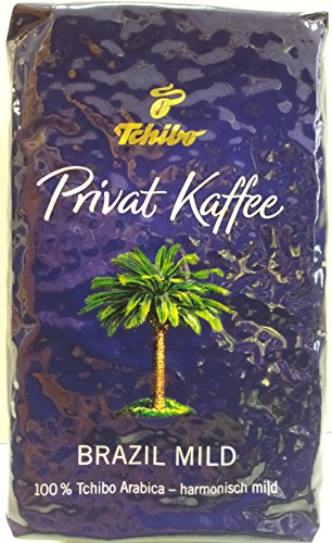 Tchibo Privat Kaffee Brazil Mild ganze Bohne