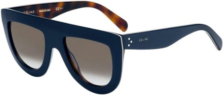 Céline ANDREA CL 41398 S DARK blueE HAVANA BROWN SHADED women Sunglasses