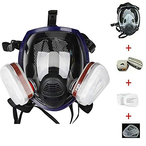 15in 1 Reusable Full Face Respirator Widely Used in Paint Sprayer, Woodworking,Dust Protector