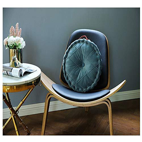 yzzlh Cojín redondo de terciopelo de alta calidad, cojín decorativo para el hogar, sofá, cama, sillón, cojín tatami para el suelo, para el hogar, coche, oficina (D)
