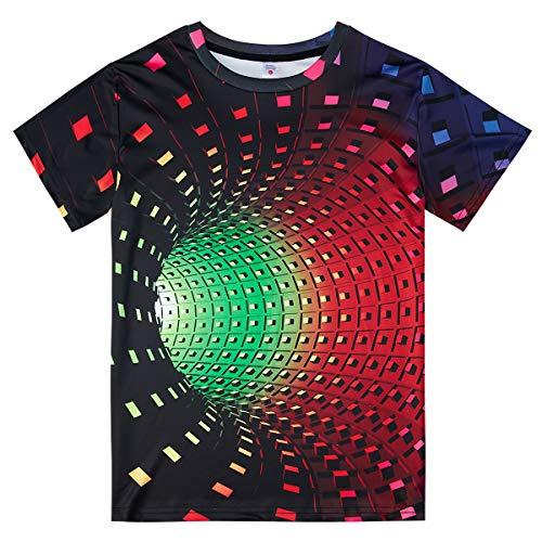 NEWISTAR Kinder Jungen Tshirts 6-8 Jahre D Gedrucktes Lässig Kurze Ärmel T Shirt Tops