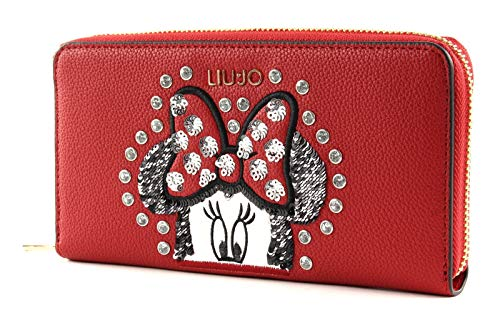 Liu Jo Mouse Happy New Year Zip Around Wallet XL Feel Rouge