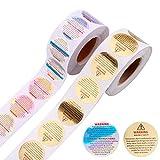 800 pegatinas de advertencia para velas redondas, etiquetas autoadhesivas de seguridad, pegatinas de papel de aluminio, suministros para hacer velas
