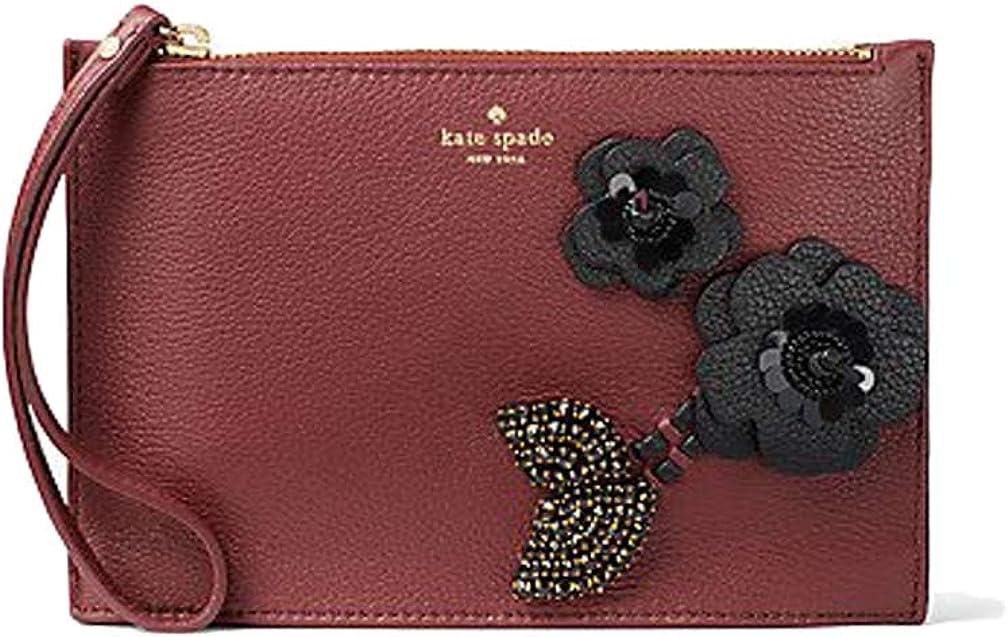Kate Spade New York on purpose embellished leather wristlet - sienna/black