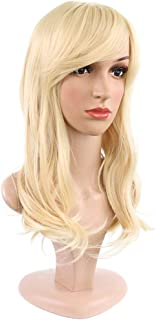 Hairpieces Hairpieces Everyday Wear Gold Long Wavy Wig Synthetic Middle Part Wig for Daily Use and Party
