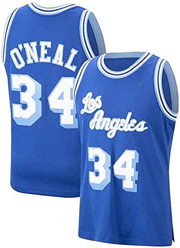 Shaquille O'Neal Jerseys, NBA Los Angeles Jerseys # 34 Lakers Baloncesto Swingman Edition Malla Jersey Sport Chaleco Top Camiseta sin mangas, Absorbiendo de sudor, Ventilador Jersey Ropa de entrenamie