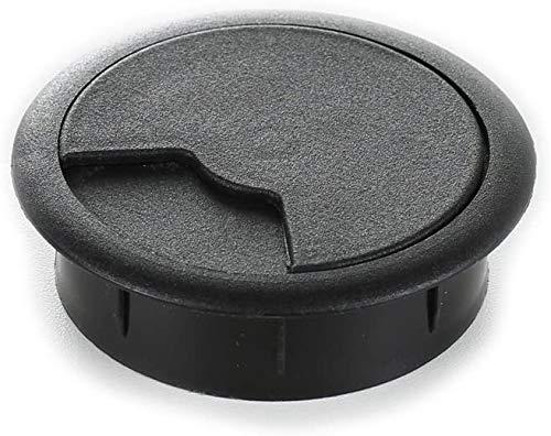 sossai® Kabeldurchführung KDM2 (1 Stück)   Kabeldurchlass/Schreibtischkanal für Schreibtische, Büro & Arbeitsplatten   Farbe: Schwarz   Durchmesser: 80 mm   Material: Kunststoff