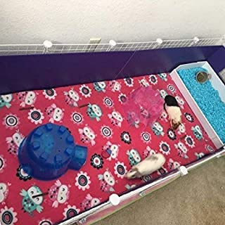 Fleece cage liner 2x5 c&c cage 3 layer for guinea pigs