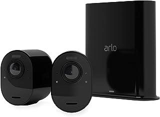 Arlo Ultra 2 spotlight, WiFi-bewakingssysteem voor buiten, met 2 4K-camera's, huisalarm, nachtzicht, 2-weg audio, 180°, me...