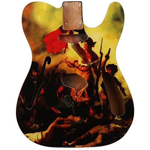 Bnineteenteam DIY E-Gitarren Korpus, Alder Wood E-Gitarren Korpusteil für Gitarre Musical Instrurments Zubehör