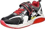 Geox J SPAZIALE Boy B Sneaker, Black/Red, 24 EU