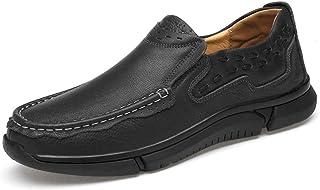 [Shuo lan JP] ビジネススタイルの靴のメンズオックスフォードカジュアル快適なスリップ 通気