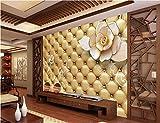 Yosot 3D Raum Tapete Benutzerdefinierte Wandgemälde Foto Floral Gold Soft Paket Gemälde Malerei 3D-Wand Vlies Wandbilder Tapeten Für Wände 3D-400Cmx280Cm