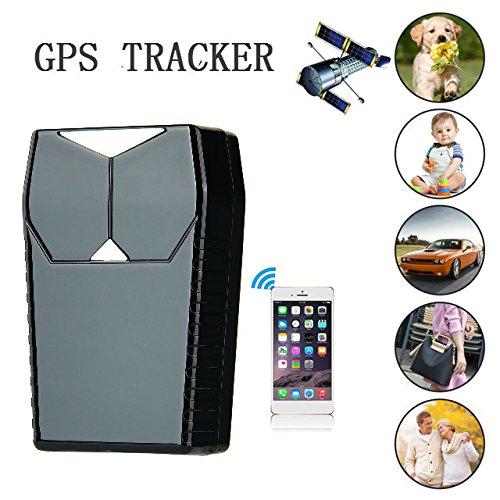 Hangang GPS Tracker Localizador para coche vehículo con libre funda para aplicaciones,3300 mAh recargable