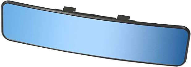 KITBEST Anti Glare Rearview Mirror, Universal Car Interior Rear View Mirror Panoramic Convex Clip On Wide Angle Blue Tint Mirror to Reduce Blind Spot and Antiglare Effectively