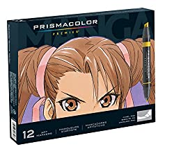 Prismacolor Double-Ended Art Markers in Manga Colors Fine & Chisel Tip