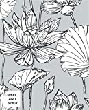 NextWall Lotus Floral Peel and Stick Wallpaper (Gray)