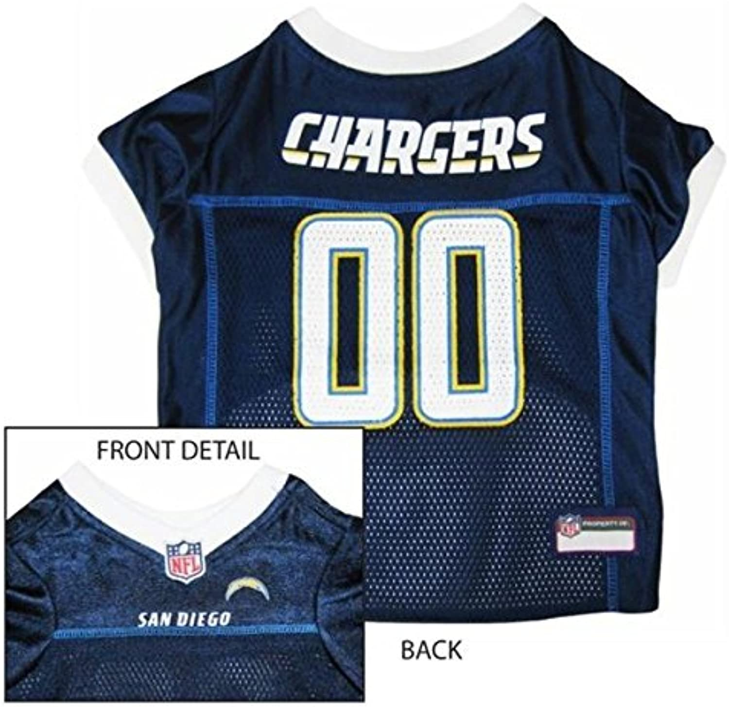Pet Care Preferred Los Angeles Chargers Dog Jersey  XLarge
