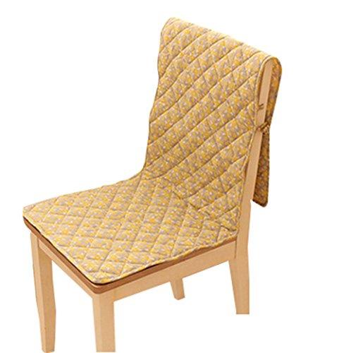 Blancho Chaise Housses de Couverture Coussin de Chaise Chaise Pad d'une Seule Pièce