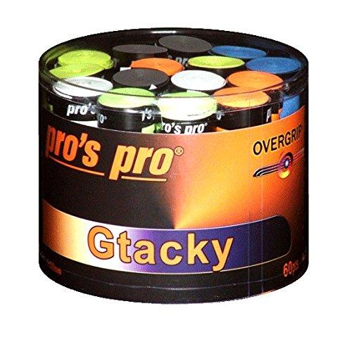 Pro's Pro Gtacky Overgrip für Tennis-, Badminton-, Squashschläger, 60 Stück-Packung sortiert