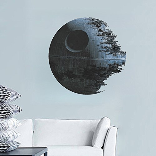 RH-MALL kreative Death Star, Star Wars,Wandaufkleber,Wandtattoo, PVC-Wandaufkleber,Wohnzimmer-Dekoration