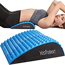 Back Stretcher Pillow - Dr. Approved for Back Pain Relief, Lumbar Support, Herniated Disc, Sciatica Pain Relief, Posture Corrector, Spinal Stenosis, Neck Pain, Support for prolonged Sitting (Blue)