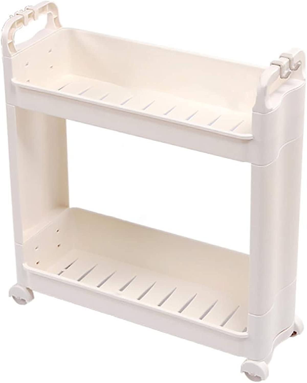 HUYP Floor-Mounted Removable Bathroom Storage Organizer White Minimalist
