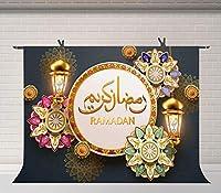 HDイードムバラク背景7x5ftイスラム教徒のイスラム祭背景装飾バナー写真スタジオ小道具BJQQFU68