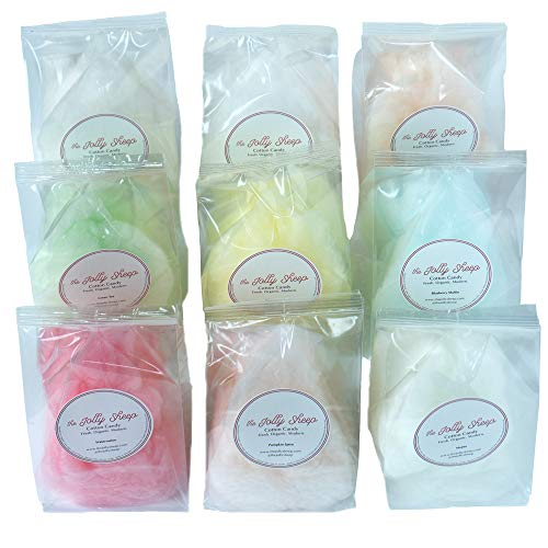 Organic, Fresh, Gourmet Cotton Candy Gift Ideas for Holidays, Weddings, Birthdays, Party Favors by The Jolly Sheep (Fortune Cookie, Gift Box 9 Qty)