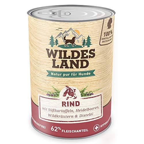 Wildes Land Hundefutter Nassfutter Rind 400g (12 x 400g)