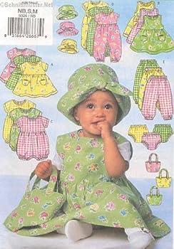 Butterick 5326 Sewing Pattern Infants Dress Jumper Romper Jumpsuit Panties Pants Hat Bag Newborn - Small - Medium