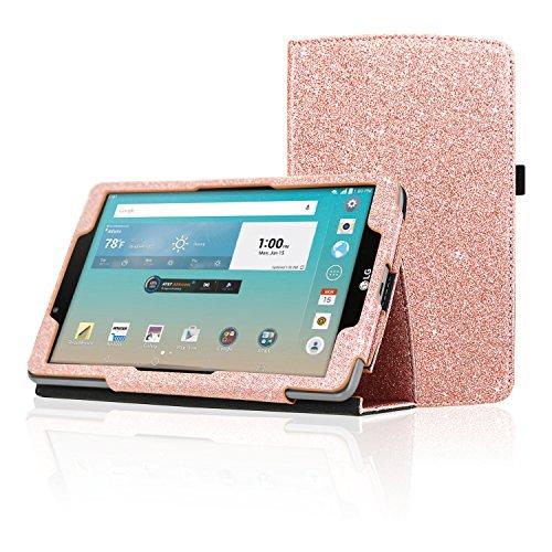 acdream LG G Pad f 8.0Schutzhülle, Folio Premium PU Leder Schutzhülle für LG G Pad f 8.0Tablet [at und T 4G LTE Modell v495& T-Mobile 4G LTE Modell v496, 2015Version Rose Gold Star of Paris