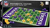 MasterPieces NFL Minnesota Vikings Checkers Board Game Set, For 2 Players, Ages 6+, Assorted, Small (41450)