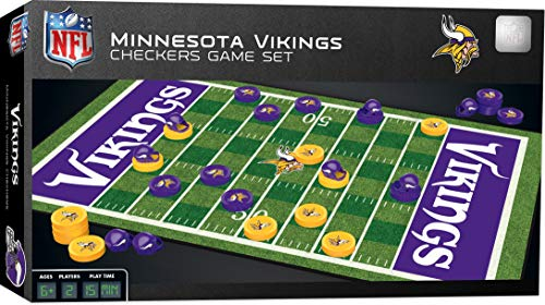 """MasterPieces NFL Minnesota Vikings Checkers Board Game , 13"""" x 21"""""""
