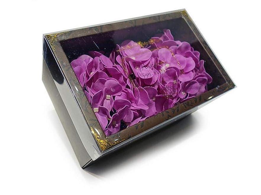 クレーン努力フィドル花のカタチの入浴剤 アジサイ バスフレグランス フラワーフレグランス バスフラワー (パープル)