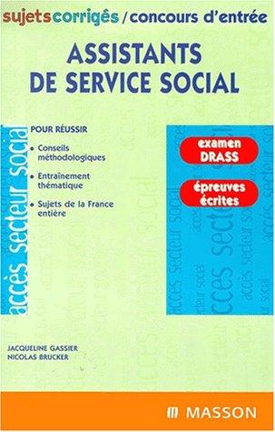Assistants De Service Social Sujets Corriges