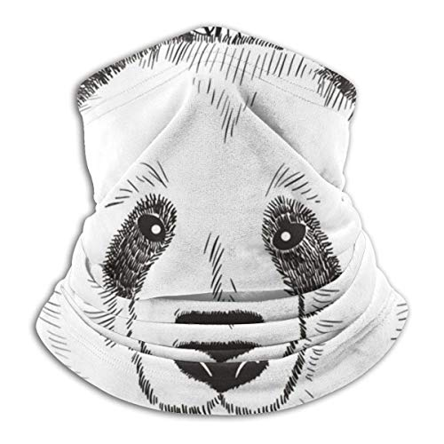 Not Applicable Neck Scarf,Cute Head of Chinese Panda Neck Gaiter Shield Scarf Bandana Face Mask,Breathable Headwear Face,25X30Cm