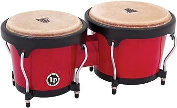 LP Aspire LPA601-RW Wood Bongos (Red/Black)