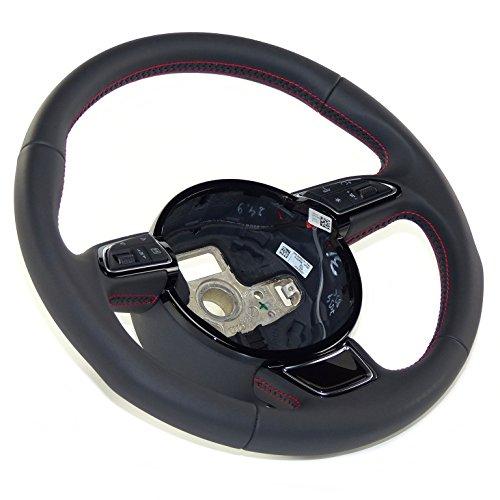 3De Radios Sport volante piel lenl Rueda para MFA piel negro costura karmesinrot