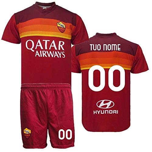 BrolloGroup Completo Calcio As Roma Personalizzato Replica Ufficiale 2021 PS 40149 Adulto Bambino (8 Anni)