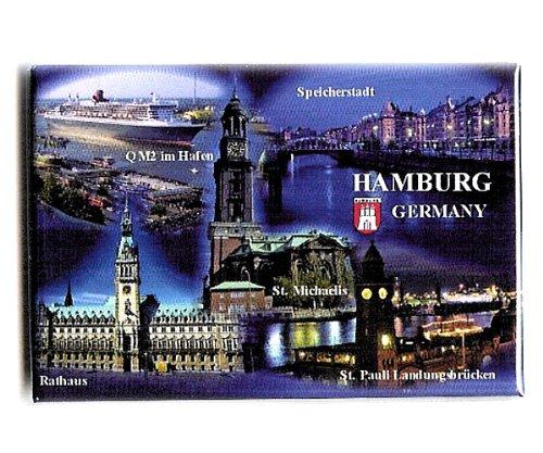 City Souvenir Shop Magnet Hamburg Multipicture