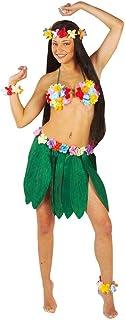 shoperama Bananenblätter Rock mit Hawaii Blumen Damen-Kostüm Beach Party Strand Südsee exotisch Tropen
