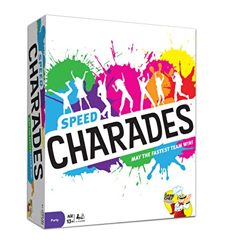 Charades Party Game – Speed Charades Board Game  FacePaced Party Game  Includes 1400 Charades  Perfect for Groups and Family Game Nights