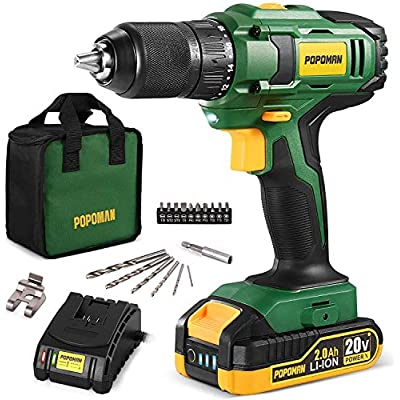 Amazon - 65% Off on Cordless Drill, 20V MAX 1/2 inch Compact Drill Driver Kit