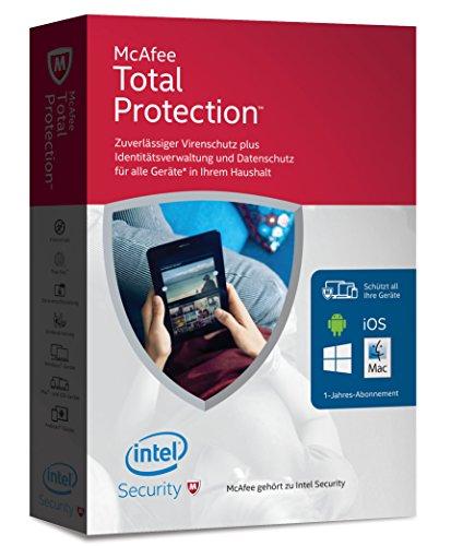 McAfee Total Protection 2016 unlimited - für eine unbegrenzte Anzahl an Geräten (Minibox Verpackung)