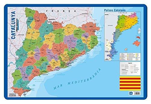 Grupo Erik Editores   Lamina Educativa Catalan Mapa Catalunya