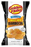 Golden Flake Sweet Heat BBQ Thin and Crispy Potato Chips 4.625 Ounce 4 Pack
