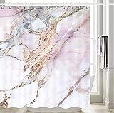 Marmor DuschvorhangGrau Schwarz Stein Hell Granit Weiß & Pink Marmor Duschvorhang Grau Marmor Badezimmer VorhangLila